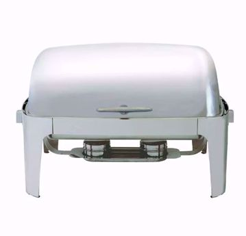 8 qt Rectangle Chafer with Roll Top Lid