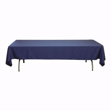 60x126 inch polyester tablecloth - navy blue