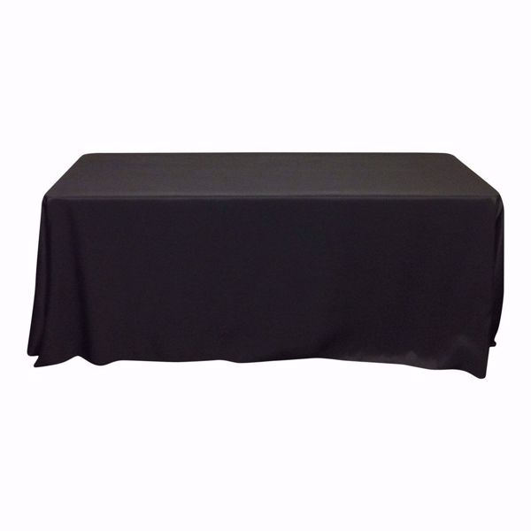 90x132 inch polyester tablecloths - black