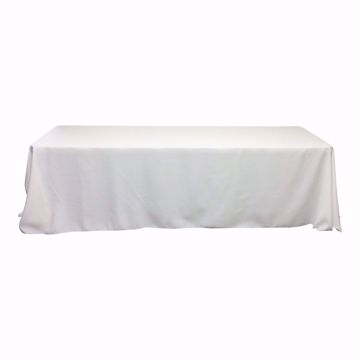 90x156 inch polyester tablecloth - white