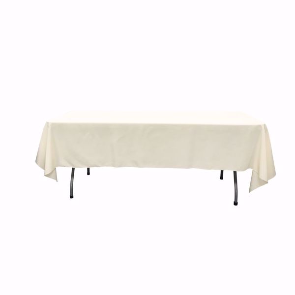 60x102inch polyester tablecloths - ivory