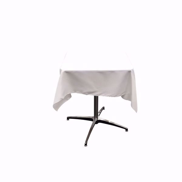 45x45 square polyester tablecloth - white