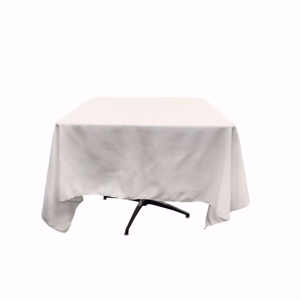 70x70 square polyester tablecloth - white