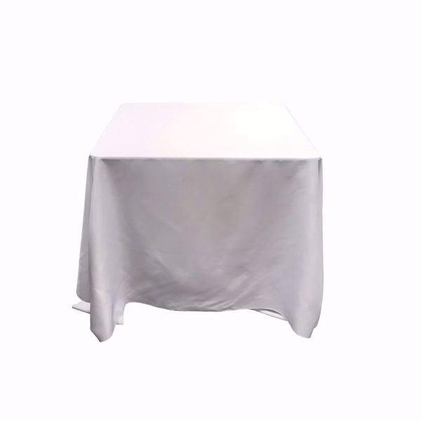 90x90 square polyester tablecloth - white