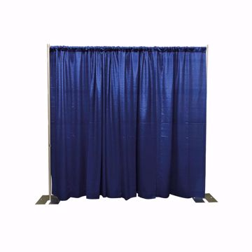 8ft Fixed Height Pipe & Drape Backdrop Kit - Expo Blue Drape