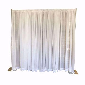 8ft Fixed Height Sheer Wedding Backdrop Kit