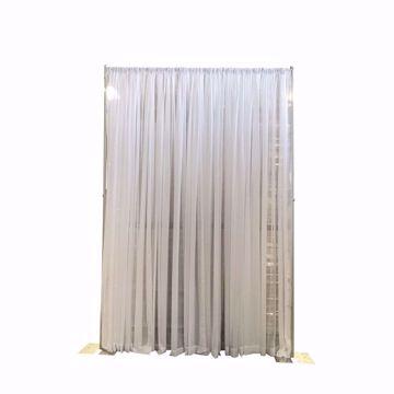 Adjustable Height Sheer Wedding Backdrop Kit