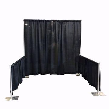 Single Booth with Sidewalls Kit - Black Banjo