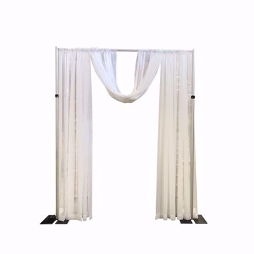 Wedding Arch Swagged Look - Classic White